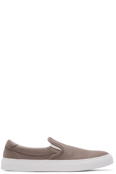 Diemme - Taupe Leather Garda Slip-On Sneakers
