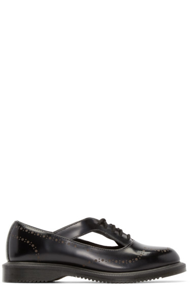Dr. Martens - Black Etched Brogue Ruby Oxfords