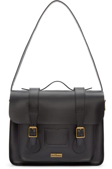 Dr. Martens - Black Leather Messenger Bag