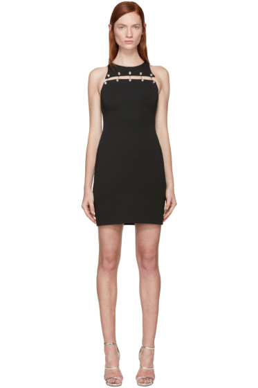 Versus - Black Staple Cut-Out Dress
