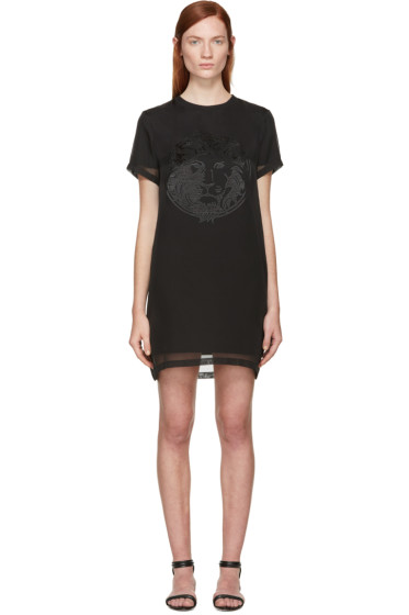 Versus - Black Chiffon Overlay T-Shirt Dress