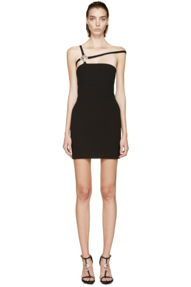 Versus - Black Sleeveless Anthony Vaccarello Edition Jersey Dress