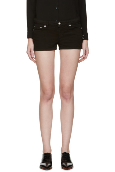 Versus - Black Safety-Pin Shorts