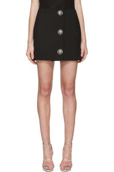 Versus - Black Lion Medallion Miniskirt