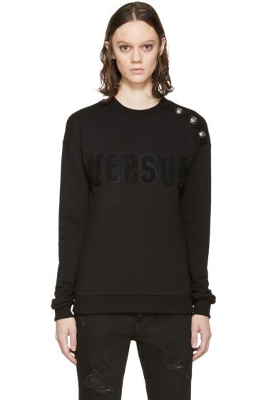 Versus - Black Buttoned Logo Sweatshirt