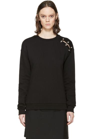 Versus - Black Cut-Out Safety Pin Sweatshirt