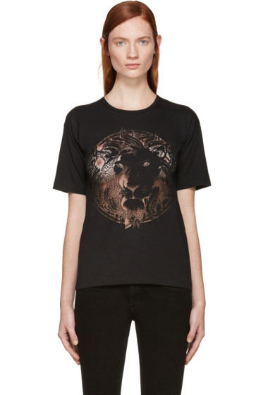 Versus - Black Lace Lion T-Shirt