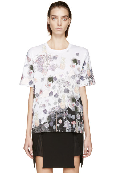 Versus - White & Pink Floral Anthony Vaccarello Edition T-Shirt