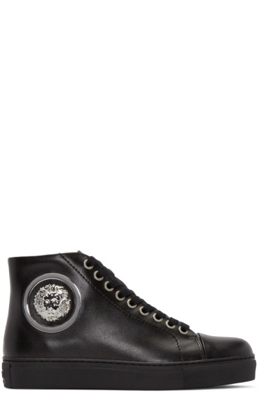 Versus - Black Lion High-Top Sneakers