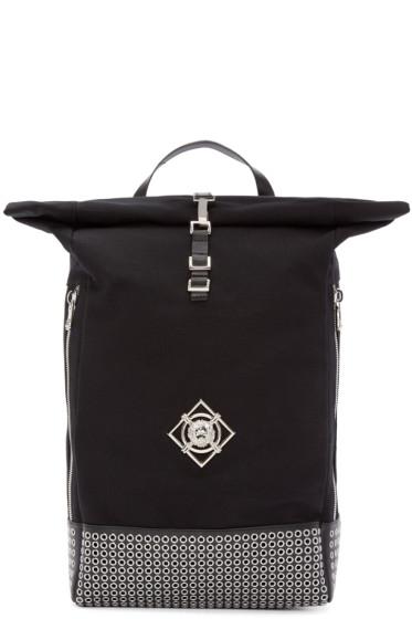 Versus - Black Canvas Studded Backpack