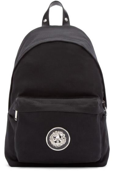 Versus - Black Canvas Lion Backpack