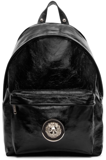 Versus - Black Patent Leather Backpack