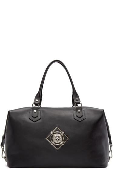 Versus - Black Leather Duffle Bag