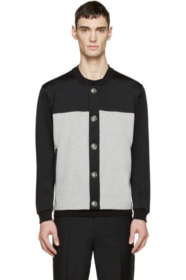 Versus - Black & Grey Bomber Jacket