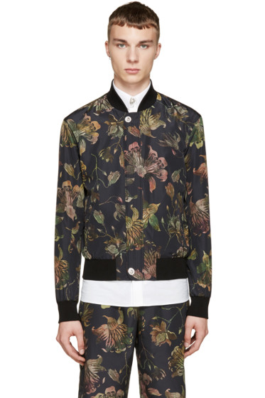 Versus - Multicolor Floral Print Anthony Vaccarello Edition Bomber Jacket