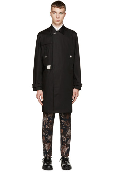 Versus - Black Belted Trench Anthony Vaccarello Edition Coat