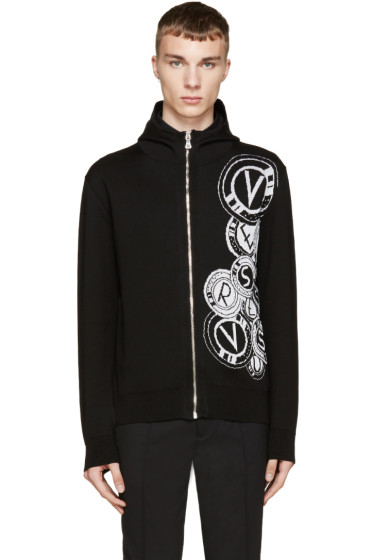 Versus - Black Knit Logo Anthony Vaccarello Edition Hoodie