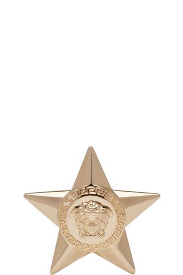 Versace - Gold Medusa Star Brooch