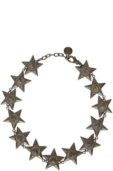Versace - Black Medusa Stars Necklace