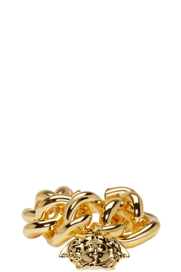 Versace - Gold Thick Chain Medusa Bracelet