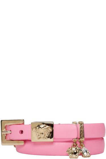 Versace - Pink Leather Charm Bracelet