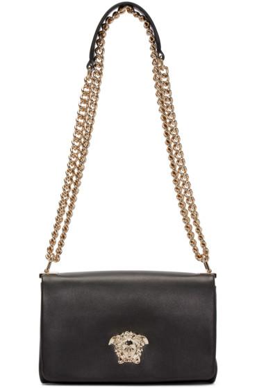 Versace - Black Leather Large Medusa Bag