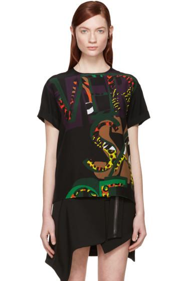 Versace - Multicolor Silk Wild Logo Blouse