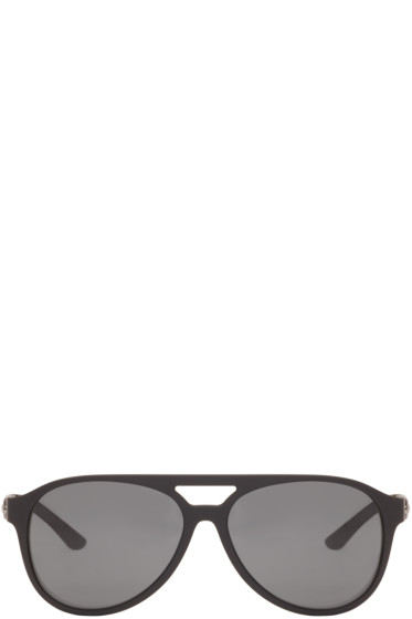 Versace - Black Vintage Aviator Sunglasses