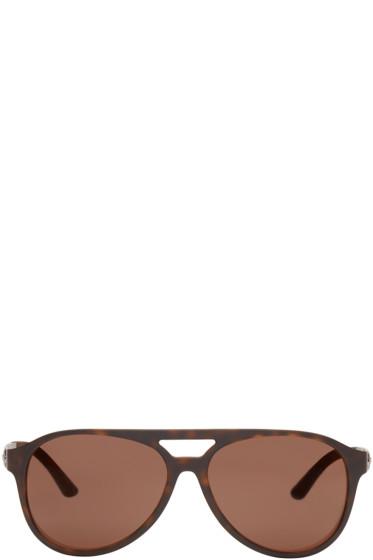 Versace - Tortoiseshell Vintage Aviator Sunglasses