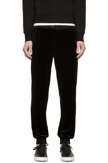 Versace - Black Velour Sweatpants