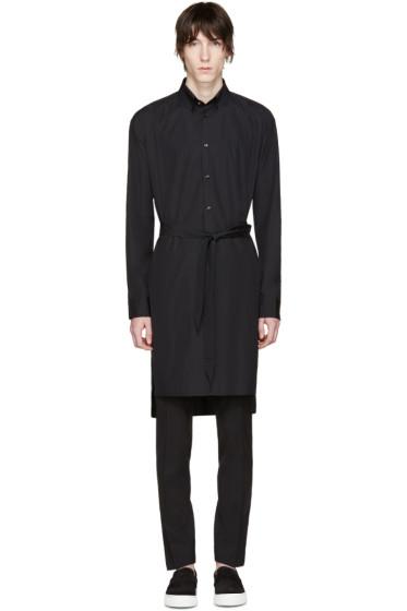 Versace - Black Long Belted Shirt