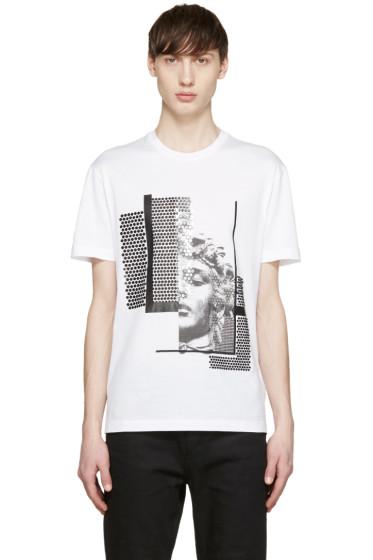 Versace - White Sequinned Medusa T-Shirt