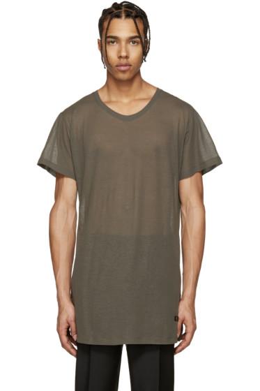 Versace - Khaki Long T-Shirt