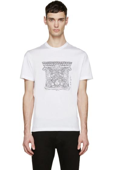 Versace - White Columns & Medusa T-Shirt