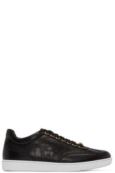 Versace - Black Perforated Medusa Sneakers