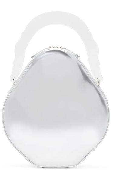 Simone Rocha - Silver Leather Duffle Bag