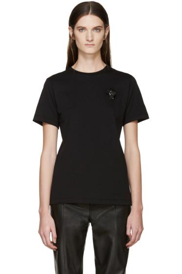 Simone Rocha - Black Beaded Appliqué T-Shirt