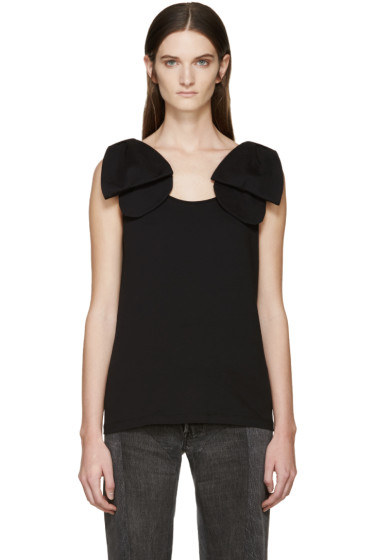 Simone Rocha - Black Bow Top