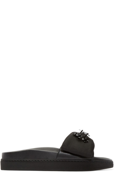 Simone Rocha - Black Beaded Bow Sandals