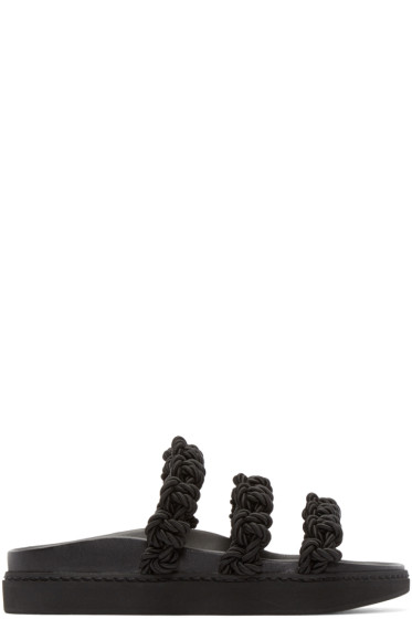 Simone Rocha - Black Knotted Strap Sandals