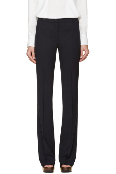Altuzarra - Navy Wide-Leg Serge Trousers