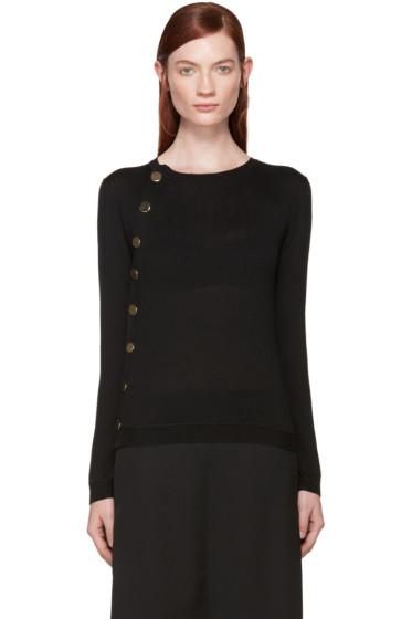 Altuzarra - Black Merino Wool Button Up Sweater