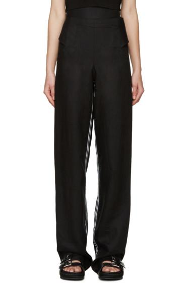 Denis Gagnon - SSENSE Exclusive Black Linen Trousers