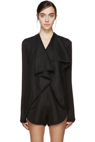 Denis Gagnon - SSENSE Exclusive Black Linen Jacket
