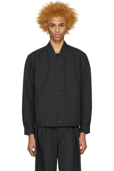 Sasquatchfabrix - Black Stand Collar Shirt