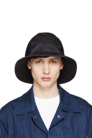 Undercover - Black Gabardine Bucket Hat