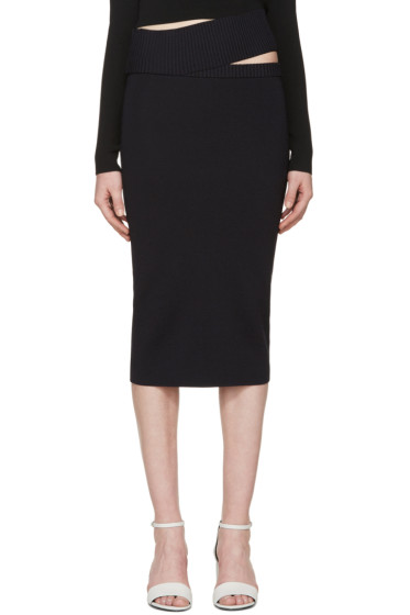 Dion Lee - Navy Knit Density Skirt