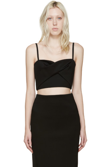 Dion Lee - Black Tech Jersey Knot Bustier