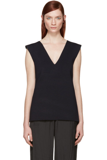 Dion Lee - Navy Bandage Back Tank Top