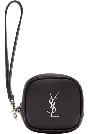 Saint Laurent - Black Monogram Coin Pouch